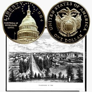 US Capitol Commemorative Silver Dollar Coin