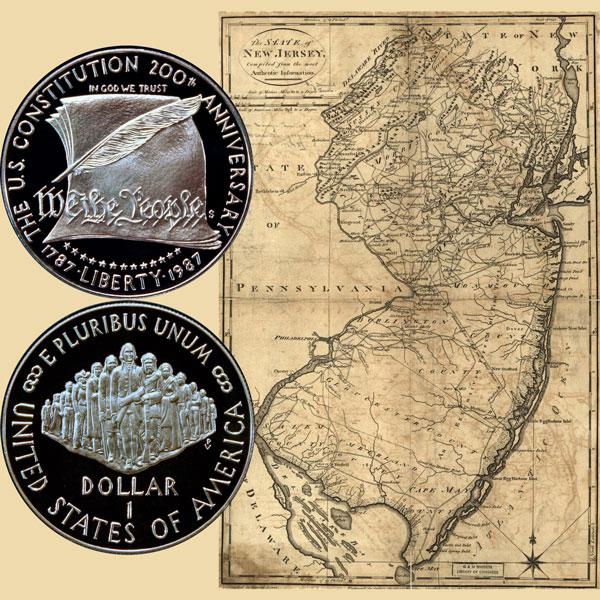 Constitution Commemorative Silver Dollar Coin