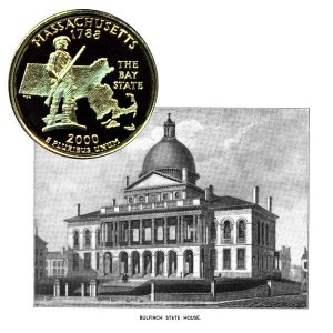 Massachusetts State Quarter Coin