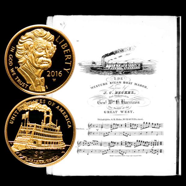 Mark Twain Commemorative Gold Five-Dollar Coin