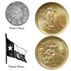 Texas Centennial Commemorative Silver Half Dollar Coin