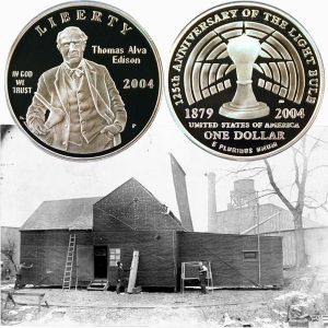 Edison Commemorative Silver Dollar Coin