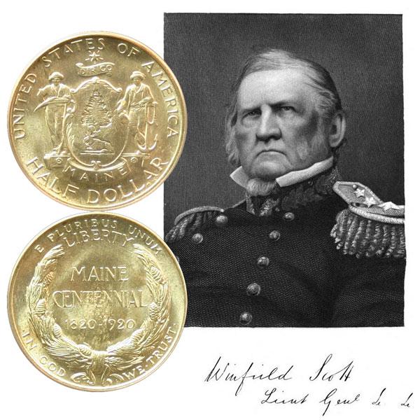 Maine Centennial Commemorative Silver Half Dollar Coin