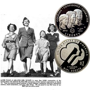 Girl Scouts Commemorative Silver Dollar Coin