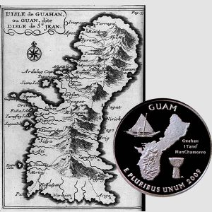 Guam US Territories Quarter Coin