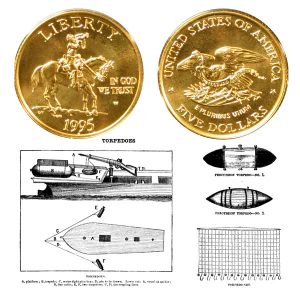 Civil War Commemorative Gold Five-Dollar Coin