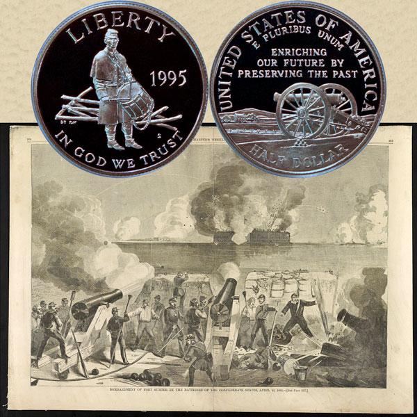 Civil War Commemorative Half Dollar Coin