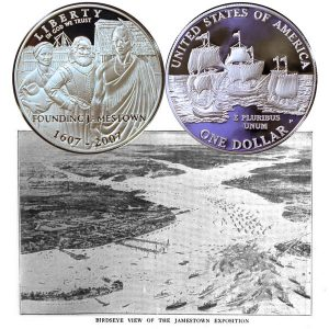Jamestown Commemorative Silver Dollar Coin