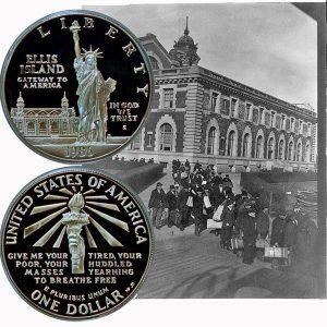 Statue of Liberty Commemorative Silver Dollar Coin
