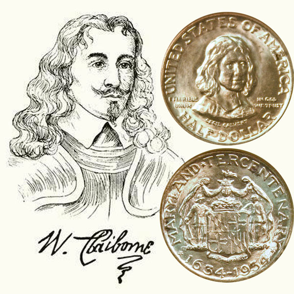 Maryland Tercentenary Commemorative Silver Half Dollar Coin