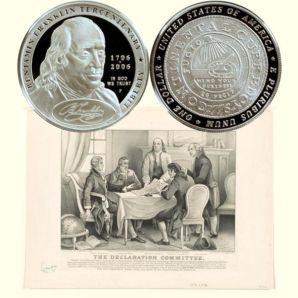 Franklin Founding Father Commemorative Silver Dollar Coin