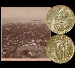 Hawaiian Sesquicentennial Commemorative Silver Half Dollar Coin