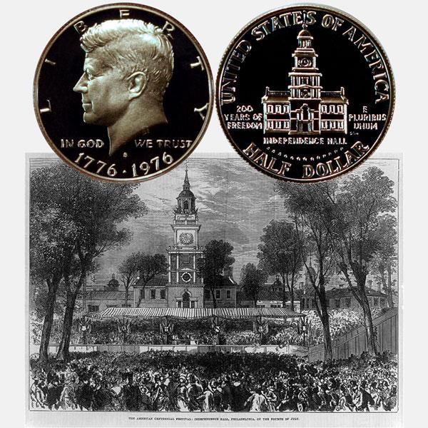 Bicentennial Half Dollar Coin