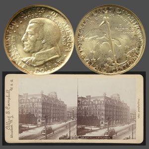 Cleveland Centennial Commemorative Silver Half Dollar Coin