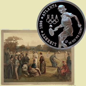 Tennis Commemorative Silver Dollar Coin