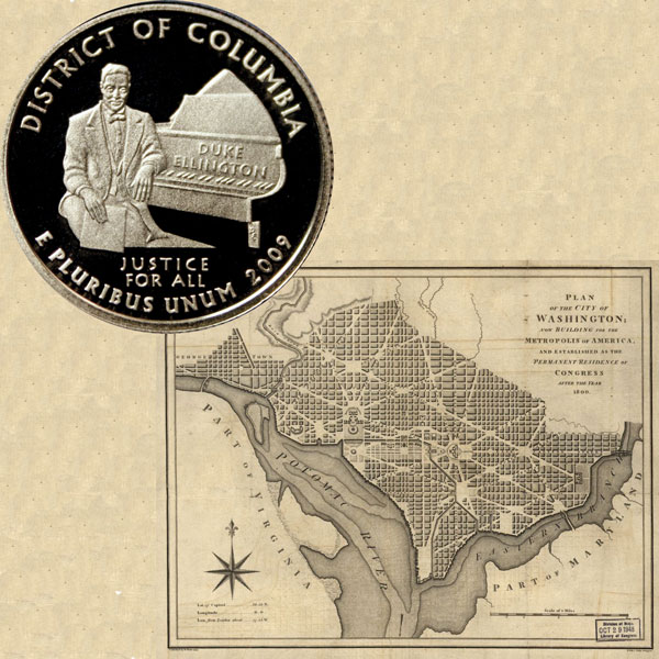 Washington D. C. Quarter Coin