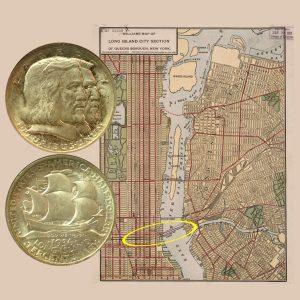 Long Island Commemorative Silver Half Dollar Coin