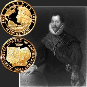 Columbus Commemorative Gold Five-Dollar Coin