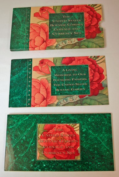 Botanic Garden Coin and Currency Set package