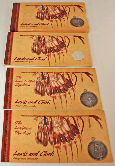 Lewis and Clark Coin and Currency Set package