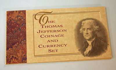 Thomas Jefferson Coin and Currency Set holder