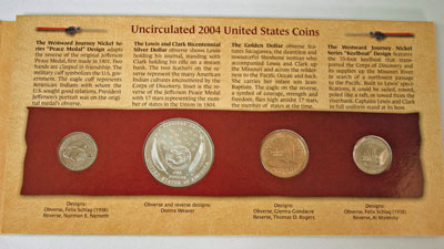 Lewis and Clark Coin and Currency Set coins reverse