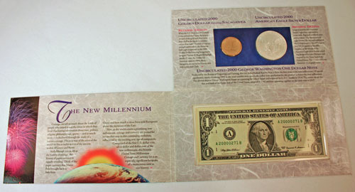 Millennium Coin and Currency Set unfolded
