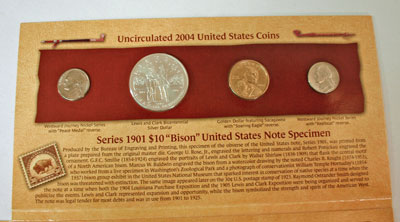 Lewis and Clark Coin and Currency Set coins obverse