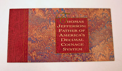 Thomas Jefferson Coin and Currency Set Booklet front