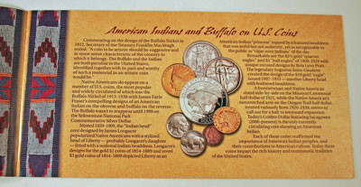 American Buffalo Coin and Currency Set Booklet page 2