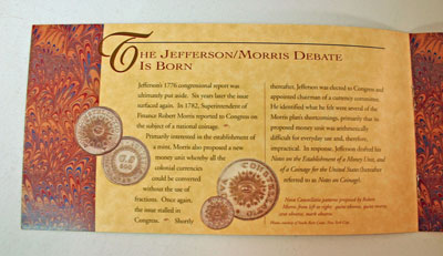 Thomas Jefferson Coin and Currency Set Booklet page 3
