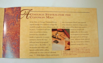 Thomas Jefferson Coin and Currency Set Booklet page 4