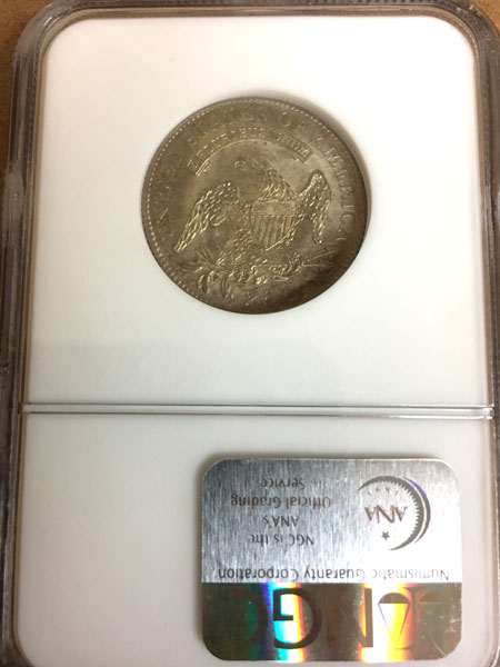 1818 Capped Bust Silver Quarter Dollar NGC MS-65 reverse