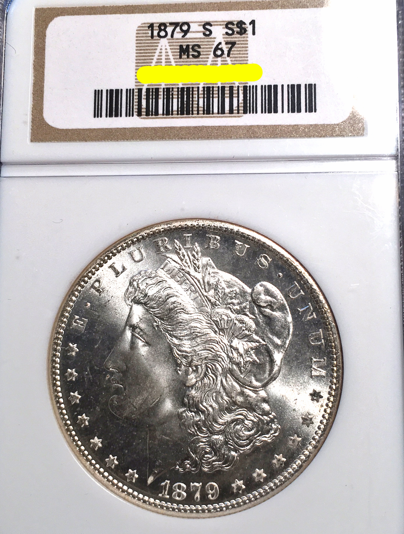 December 2016 Coin Show 1879 S Morgan Dollar MS-67 NGC