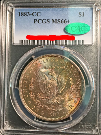 1883 CC Silver Dollar Coin PCGS MS-66+