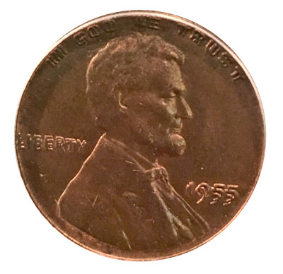 1955 Lincoln cent doubled die obverse