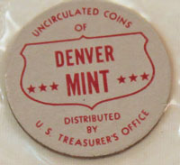1960 Mint Set red and gray Denver Mint token