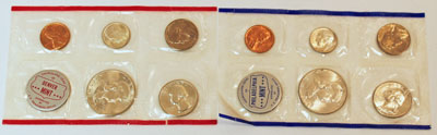 1960 Mint Set obverse images of uncirculated coins