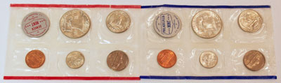 1960 Mint Set reverse images of uncirculated coins