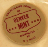 1962 Mint Set red and gray Denver Mint token