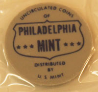 1962 Mint Set blue and gray Philadelphia Mint token