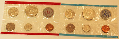 1963 Mint Set obverse images of uncirculated coins