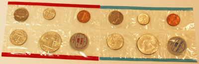 1963 Mint Set reverse images of uncirculated coins