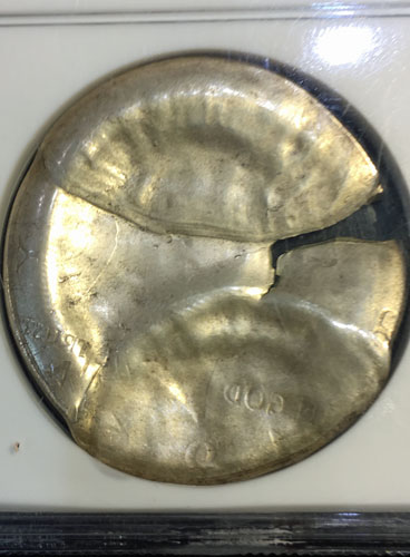 1964 Silver Half Dollar Mint Error MS-65 reverse