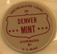 1964 Mint Set red Denver Mint token