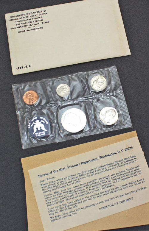 1965 Special Mint Set error contents