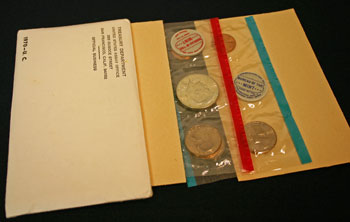 1970 Mint Set open