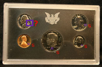 1971 Proof Set with no-S nickel