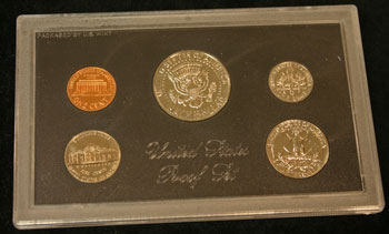 1971 Proof Set reverse