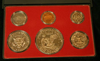 1974 Proof Set reverse